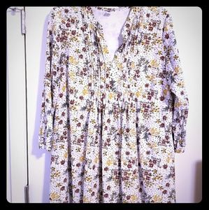 Floral print dress with lining